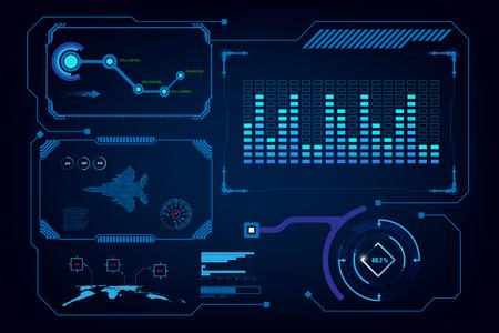 modèle d'intelligence artificielle virtuelle d'interface hud gui