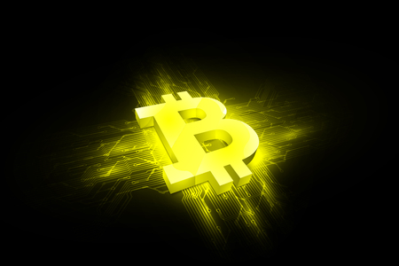 abstract bitcoin digital currency background, futuristic digital money, vector illustration design Illustration