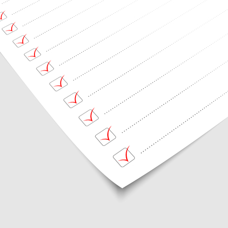 checklist paper. vector illustration 向量圖像