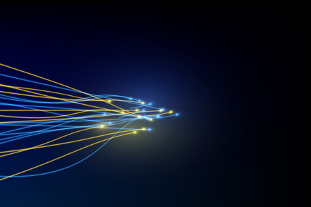connection line on fiber optic networking telecommunication concept background