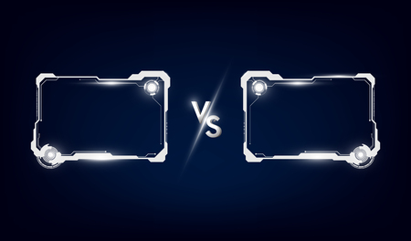 Battle vs match, game concept competitive vs. Vector illustration