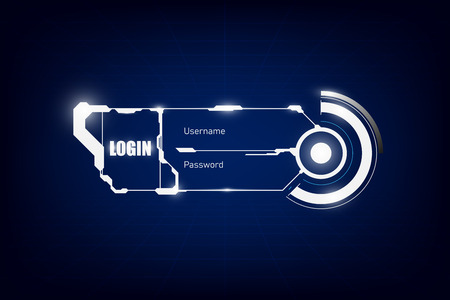 login template hud ui hi tech design concept background
