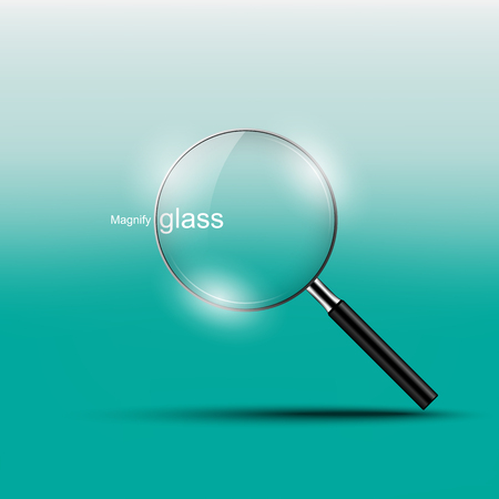Magnify glass , vector illustration Illustration