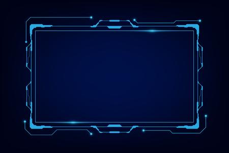 abstrait tech sci fi hologramme cadre modèle de conception arrière-plan