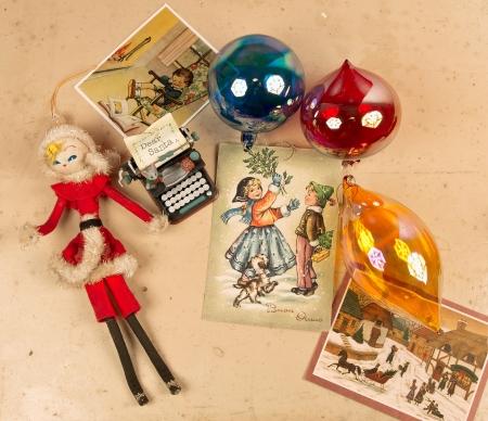Christmas card,vintage style  Stock Photo