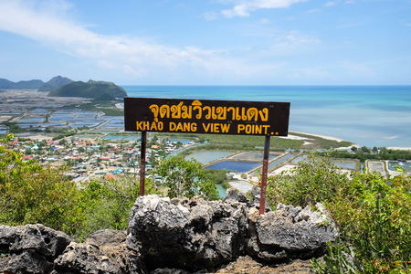 Khao Dang view point at Sam Roi Yod national park in Thailand Stock Photo