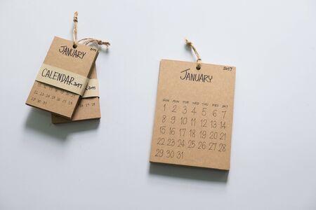 Vintage calendar 2017, Happy New Year 2017