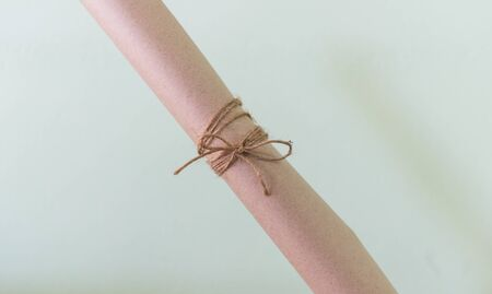 personal perspective: Vintage gift for new year with ribbon