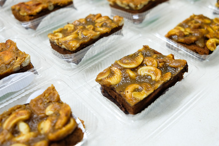 whithe: Toffee cake on whithe background, bakery