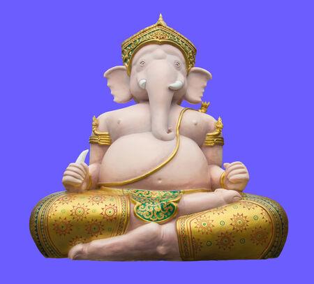 ganapati: The statue ganesha on purple