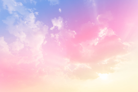 Soft cloud background with  colorful. Stockfoto