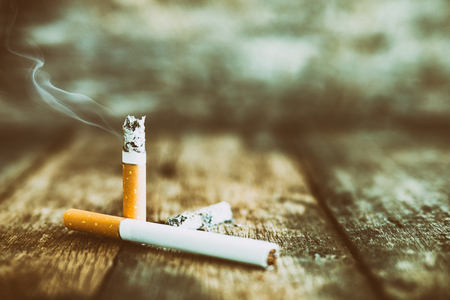 Still life cigarette people smoke cigarette and get toxin body look like way to die. In the day  World No Tobacco Day please quit or stop smoke for good health.