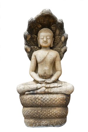 Statue of Buddha  style ancient asia on isolated background. Foto de archivo - 122540838