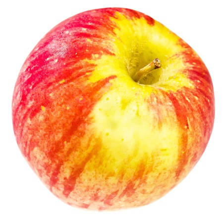 A red apple on white background