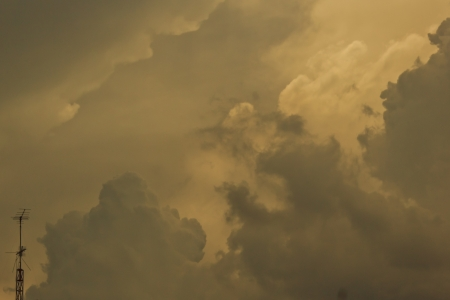 strom: A Strom and cloudy sky in the morning