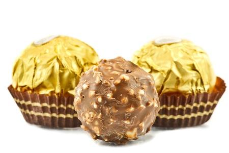 チョコレートのボールは、プラリネ アフタヌーン スナックがあります。