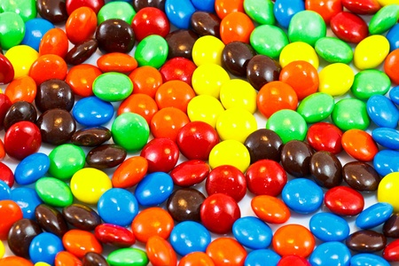 A pile of colorful chocolate coated candy Stock Photo - 21409539