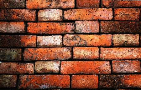 A Background of old brick brown wall texture with high contrast photo