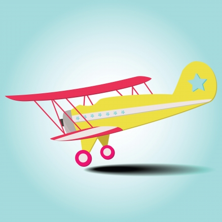 Colorful Travel Plane Is Landing From The Blue Sky Vector