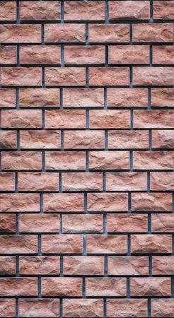 Red brick wall texture grunge background, vertical frame photo