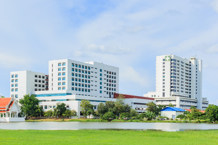 Modern ziekenhuis gebouw