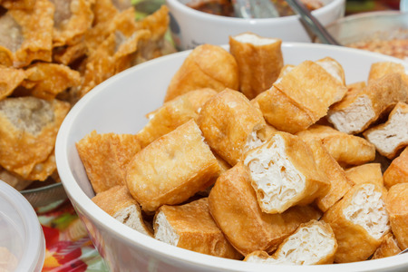 Fried bean curd eaten or tufu