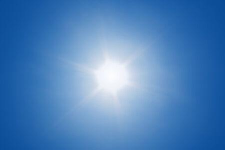 Sun with sun ray