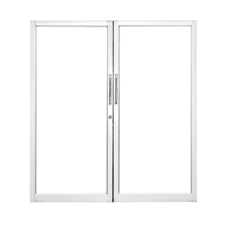 Aluminium door with isolated background Stock Photo