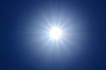 Sun with sun ray photo