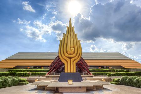 Bangkok - 24 augustus: Queen Sirikit National Convention Center op 24 augustus 2014 in Bangkok, Thailand. Het is een conferentiecentrum en tentoonstellingsruimte gevestigd in Bangkok, Thailand