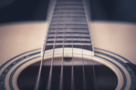 middle joint: Close up of acoustic guitar