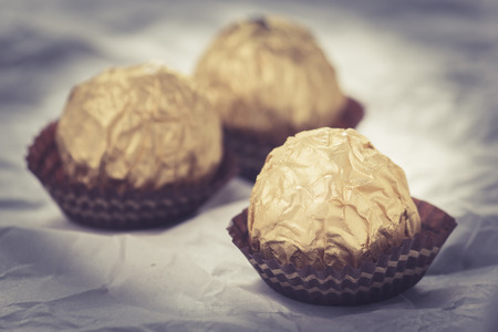 ferrero: Chocolate balls, retro filter effect