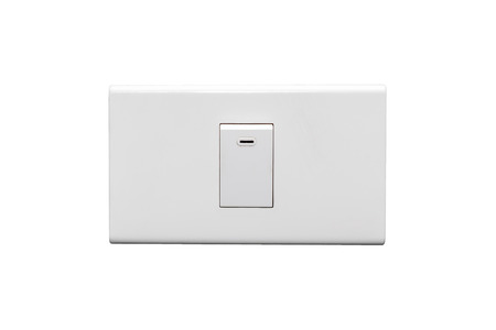 Light Switch in the Off Position Isolated on White Background. Фото со стока - 32080656