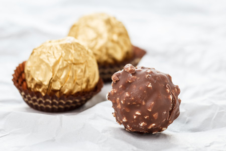 ferrero: Chocolate balls Stock Photo