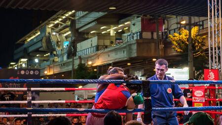 Bangkok Thailand - November 5: M.B.K. Fight Night is Thai Girl Boxing every night at 6.00-8.30 PM on November 5, 2014 at Bangkok Thailand.