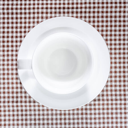 Empty coffee cup, top view