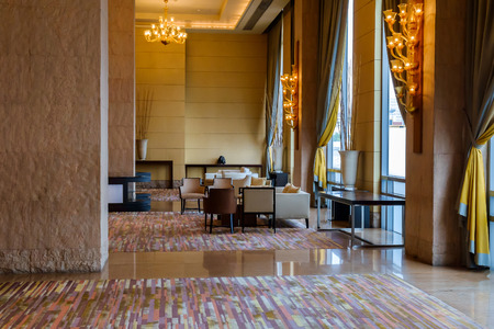 Bangkok - November 27: Hall of the hotel on November 27, 2014 at Bangkok, Thailand