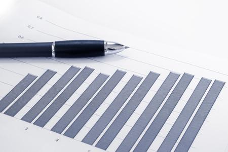Financial accounting stock market graphs analysis photo