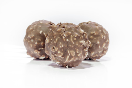ferrero: Chocolate balls or bon bon are praline or may be snack when afternoon.
