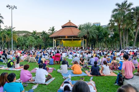 lumpini: Bangkok - February 22, 2015: Concert in the park by Bangkok Symphony Orchestra at Lumpini park, Bangkok Thailand on February 22, 2015 Editorial