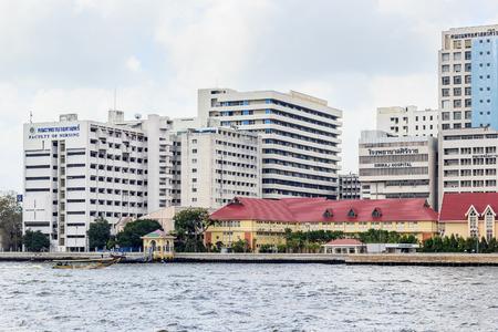 medical school: Bangkok  February 21 2015: Siriraj hospital is the first hospital and medical school in Thailand located at the West bank of Chao Phaya river in Bangkok.