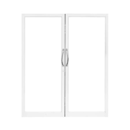 aluminium: Aluminium door with isolated background Stock Photo