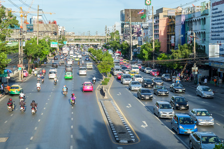Bangkok Thailand  May 22 2015: Evening rush Hour in Bangkok Centre Thailand on May 22 2015