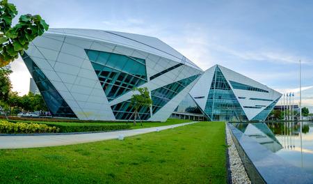 bu: Bangkok , Thailand - August 22, 2015: BU Diamond building at Bangkok University, Bangkok Thailand on August 22, 2015. This building is Icon of Creativity. Stock Photo