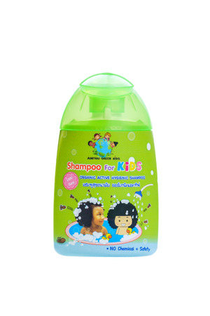 baby rice: Bangkok, Thailand - November 2, 2015: Aim Thai Organic 2 in 1 Baby Lotion Powder, No Talcum No Dust and made with rice  Corn Powder.