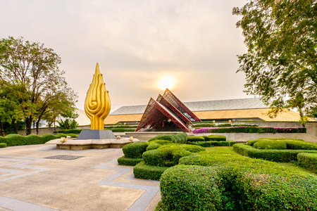 Bangkok, Thailand - February 29, 2016: Queen Sirikit National Convention Center. It is a convention center and exhibition hall located in Bangkok, Thailand Editorial