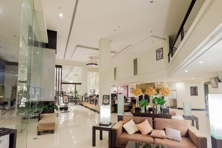 chonburi: Chonburi, Thailand - March 19, 2016: Hall of the hotel on March 19, 2016 at Chonburi, Thailand.
