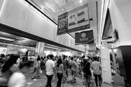 sirikit: Bangkok, Thailand - March 6, 2016: Thai Teaw Thai exhibitors at Queen Sirikit National Convention Centre in Bangkok, Thailand.