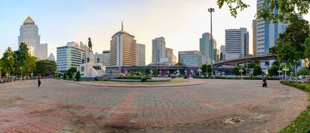 lumpini: Bangkok, Thailand - January 21, 2015: View of lumpini park in bangkok thailand, Lumpini Park covers 142 acres with 2.5 km of pathways and a large boating lake.