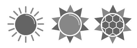 suns: Collection of design vector suns